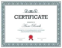 Free Certificate Of Achievement Special Certificate
