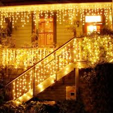 4m 96 led indoor outdoor string lights 110 220v curtain icicle drop led party