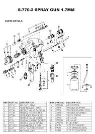 star 770 spray 2 parts diagram