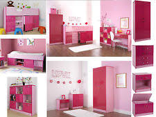 girls pink bedroom furniture. Ottawa Caspian Pink Gloss Girls Bedroom Furniture - Wardrobe Drawers Beds Sets