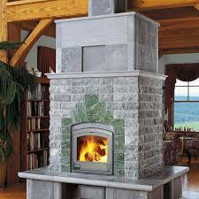 canada fireplace in a cabin
