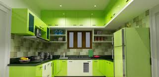 Superb U Shaped Bedroom Cupboards #0   Modern U Shaped Lime Green High  Gloss Finish