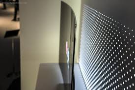 flat screen tv on wall side view. lg\u0027s oled 4k tvs offer the best possible viewing angles, but not because of their flat screen tv on wall side view w