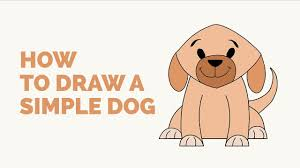 Small Picture How to Draw a Simple Dog Easy Step by Step Drawing Tutorial