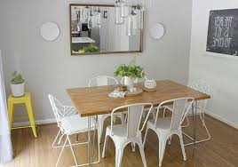 image of modern dining table clearance dimensions