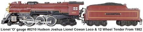 lionel trains lionel o gauge 6 8210 joshua lionel cowen 4 6