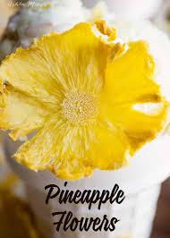 homemade pineapple flower tutorial