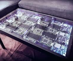 computer coffee table diy computer coffee table