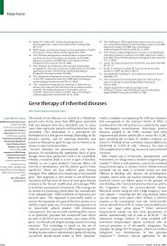 gene therapy of inherited diseases the lancet first page of article