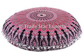 ethnic floor cushions. Perfect Ethnic 32u0026quot Round Floor Pillow Ethnic Large Cushion Decorative Throw Pillow  Cover Meditation Throughout Cushions