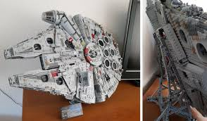 Lego Display Stands 100 Millennium Falcon On A Vertical Stand Lego 86
