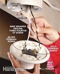 how to replace a pull chain light fixture the family handyman photo 3 connect the new fixture
