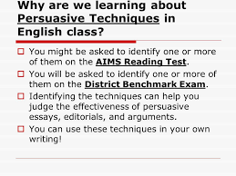 persuasive techniques used in writing ppt video online why are we learning about persuasive techniques in english class