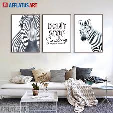 animal zebra black white framed art