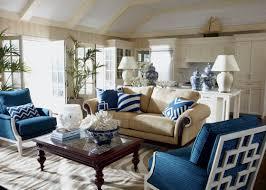 Marvelous Beige And Blue Living Room