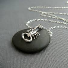 sterling silver scorpion necklace small