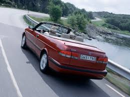 1999-2002 Saab 9-3 Convertible - 1999 SE Rear Angle Speed Tilt ...