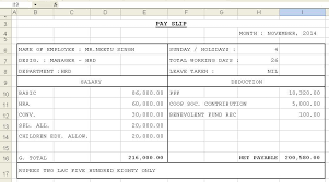Sample Excel Document Get Salary Slip Format In Excel Microsoft Excel Templates