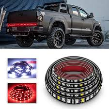 Amazon.com: LED Truck Tailgate Light Bar 60 Inch Double Row LED ...
