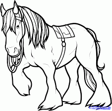 Small Picture Clydesdale Horse Coloring Pages To Print Coloring Pages