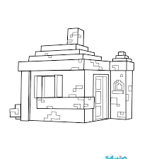 House Coloring Pages Page Free Printable Colouring Minecraft Online