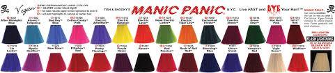 Manic Panic Hair Colour Chart Manic Panic The Color Attic