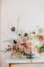 Scabiosa Floral Design Floral Centerpiece With White King Protea Distant Drums