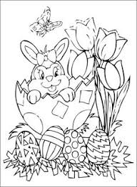 Easter Bunny Coloring Pages Pinterest With Kleurplaat Pompom Pasen