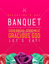 Valentines Day Banquet Christian Flyer Template Flyer Templates