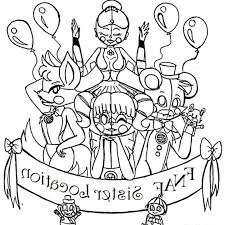Fnaf Coloring Pages Ra3m Baby Fnaf Sister Location Coloring Pages