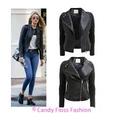 black faux leather jacket gold zipper cairoamani com