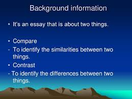 compare and contrast essay compare and contrast essay 2