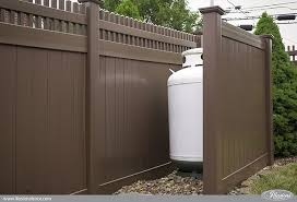 brown vinyl fencing. Perfect Fencing Brown PVC Vinyl Privacy Fence From Illusions Intended Fencing I