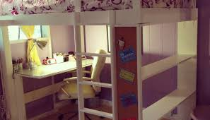 full size of desk decorating loft bed with desk and storage awesome white loft bed