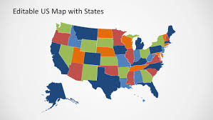 Us Map Editable In Powerpoint Editable Us Map Template For Powerpoint With States Slidemodel