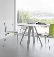 arki round white meeting table insitu