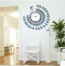 big wall clock living room clocks personalized customization diamante home decorative