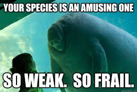 your species is an amusing one so weak. so frail. - Overlord ... via Relatably.com