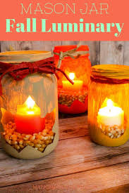 make your home pretty in a flash with a fall leaf mason jar luminary diy
