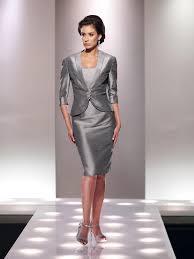 <b>Graceful</b> Strapless Knee Length Silver <b>Taffeta</b> Sheath Column ...