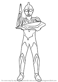 learn how to draw ultraman ribut ultraman step by step drawing tutorials