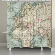 world map shower curtain – laural home
