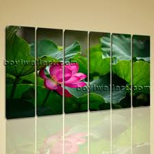 canvas wall art contemporary home decoration hd print water lily