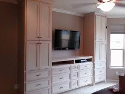 Bedroom Wall Units with Drawers and TV