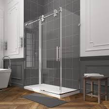 ove decors sydney 78 75 in h x 30 25 in w clear shower glass panel