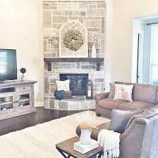 love the stone on this corner fireplace smoked leuders chopped stone with cream mortar