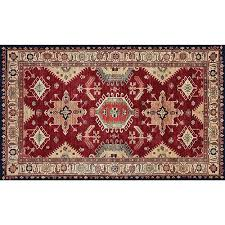 ruggable washable indoor outdoor stain resistant ruby rectangular 3 ft x 5 ft rug set