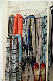 Catchy Ways To Organize Scarves Hipsave With Scarf Organizer Hipsave in  Scarf Holder