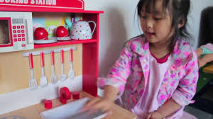 wooden kitchen in kmart toys world channel