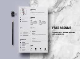 10 Free Clean Simple Resume Templates Designwithred Com